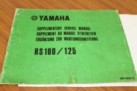 Yamaha RS100 RS125 Supplementary Service Manual Genuine OEM - 480-28197-81