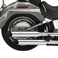 Harley Davidson Softail Delux FLSTNI Baloney Cut Silencer Exhaust Kit NOS 80465-06