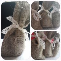 Hessian bag collage