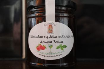 Strawberry Jam with Gin & Lemon Balm