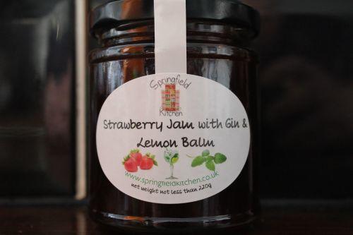 Strawberry Jam with Gin & Lemon Balm