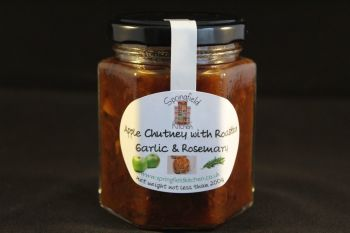 Apple Chutney with Roasted Garlic and Rosemary