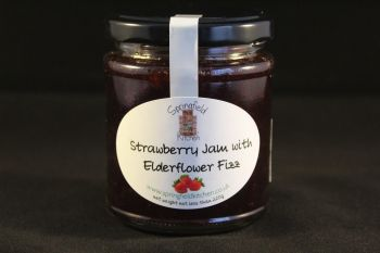 Strawberry Jam with Elderflower Fizz