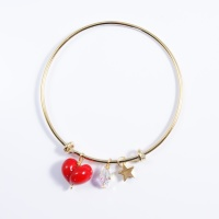 Red Heart On a 14K Gold Plated Bangle