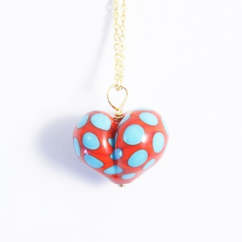 Red and Turquoise Heart