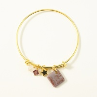 Purple neo bangle on gold