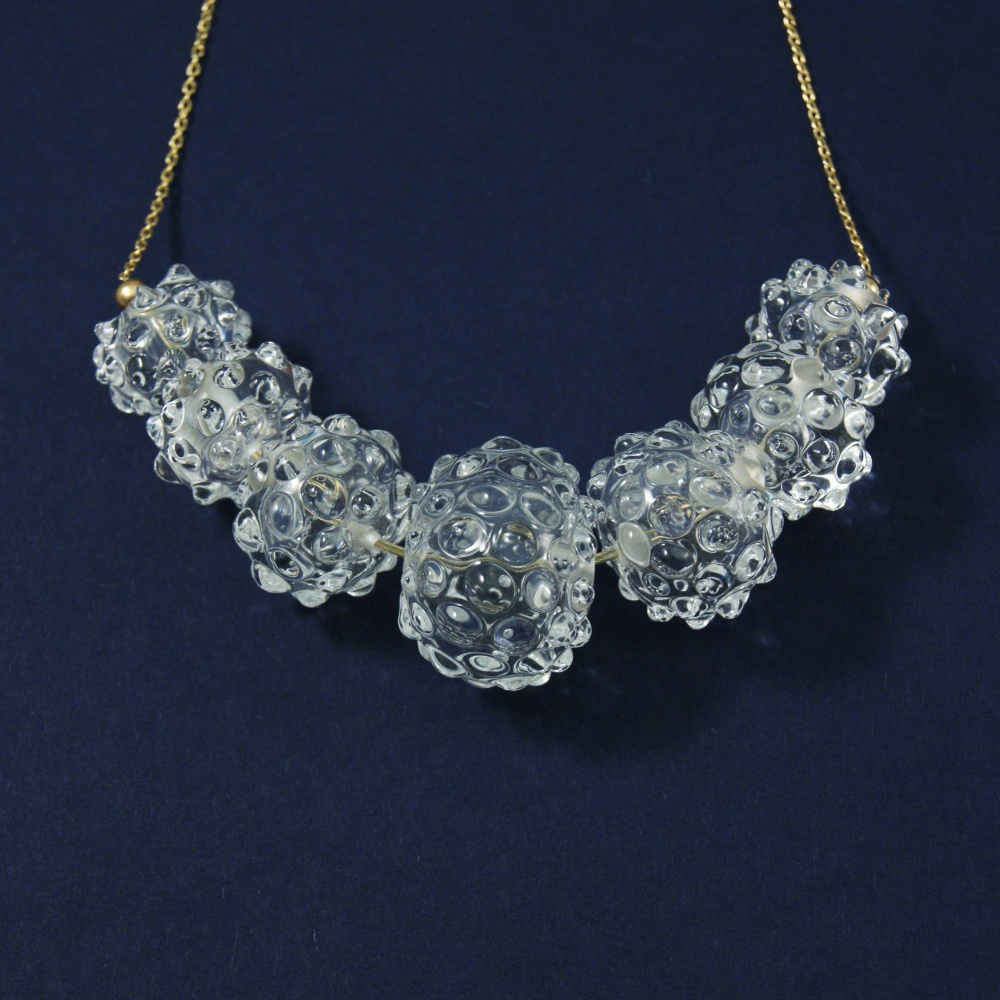 Clear glass bauble necklace