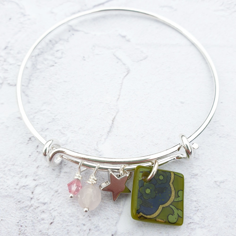 Olive and pink Bangle