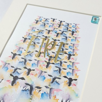 EIRE Sheep Print