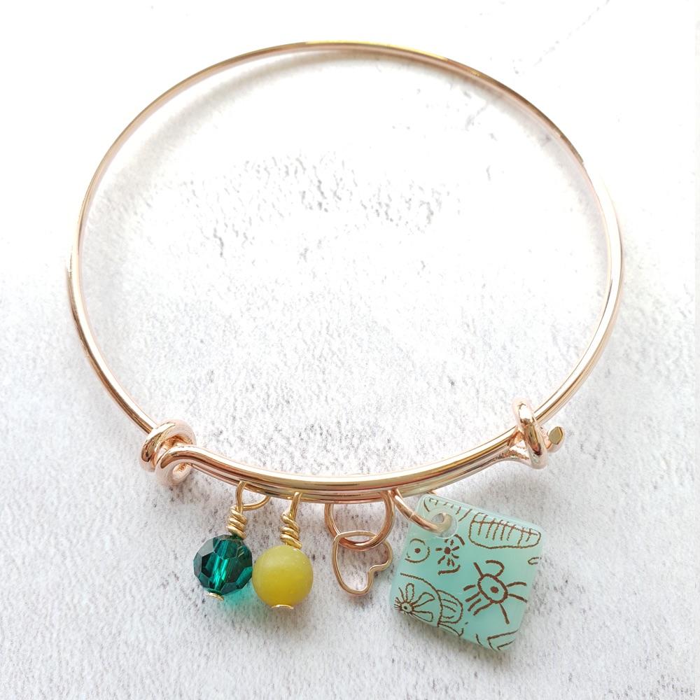 Turquoise Neo rose gold bangle