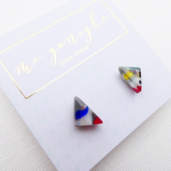 Multicoloured Geo studs #4