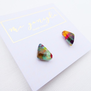 Multicoloured Geo studs #11