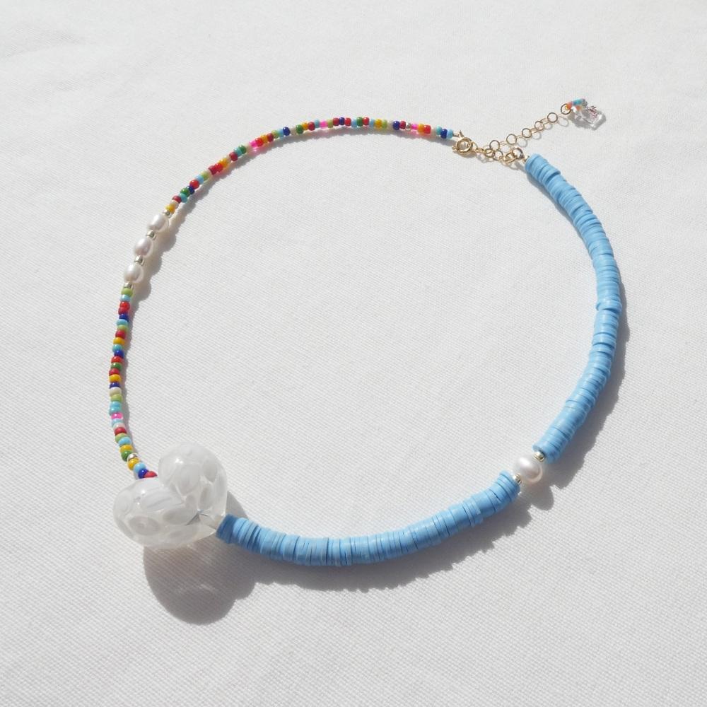 Heart Rainbow Necklace