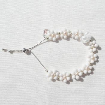 Pearl White Flower Bracelet