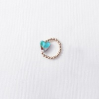 Simply Gold Ring (light aqua)