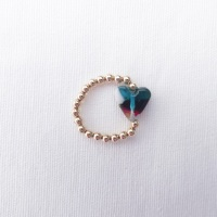 Simply Gold Ring (teal and multicolours)