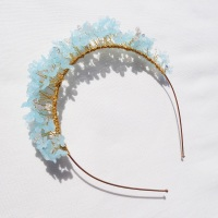 Pastel blue flower crown