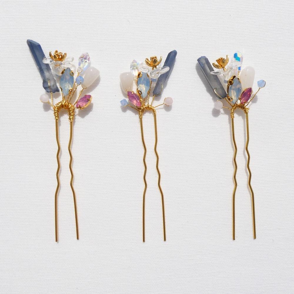 Flower Hairpins (a trio)