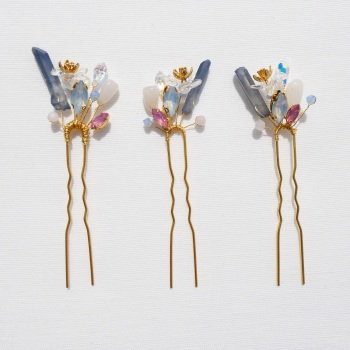 Flower Hairpins (a trio)
