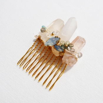 Rose Quartz Haircomb