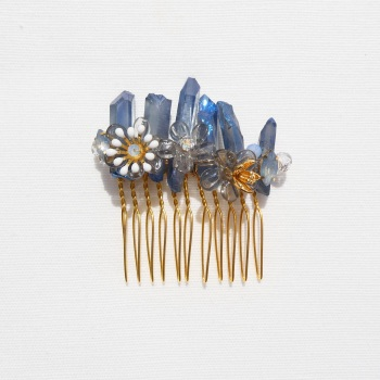 Blue Quartz Haircomb #1