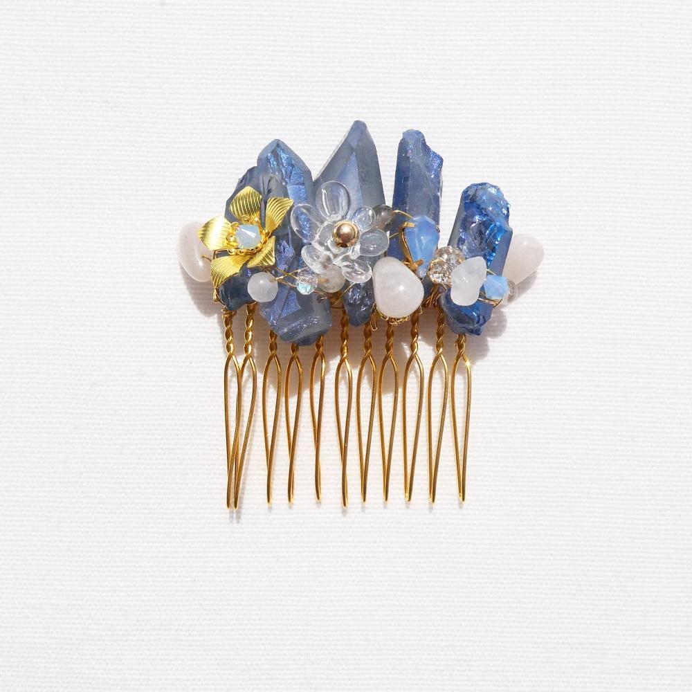 Blue Quartz Haircomb #2