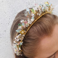 Pastel flower crown