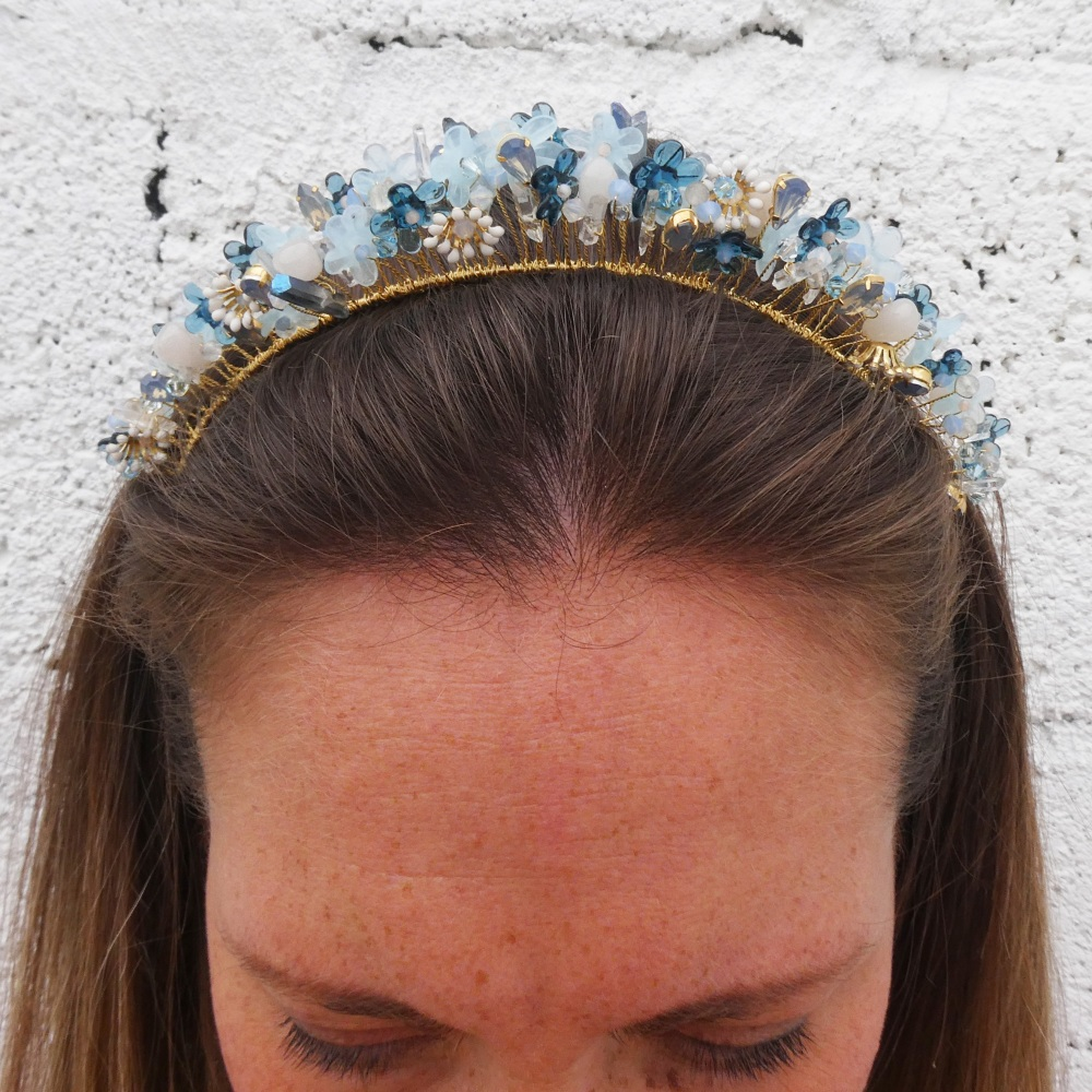 Blue Flower Crown