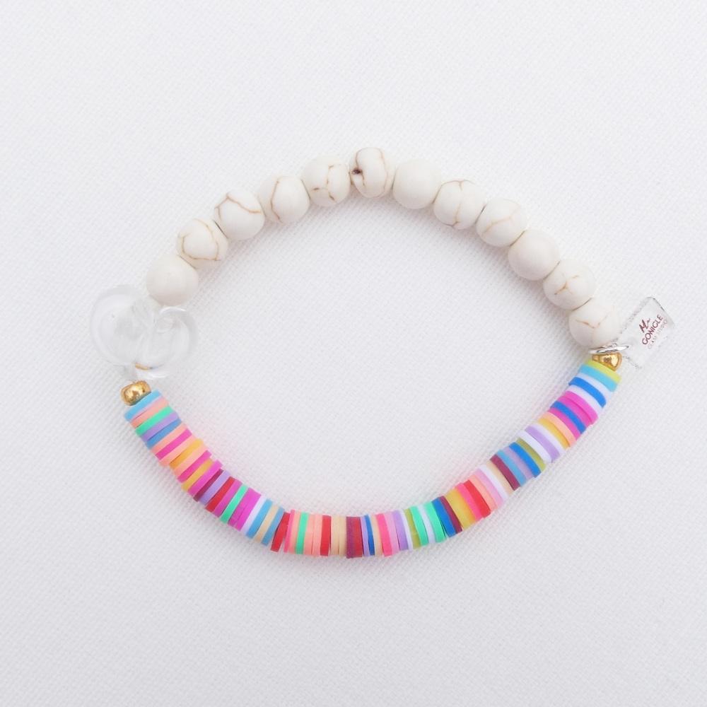 Rainbow and ivory Bracelet