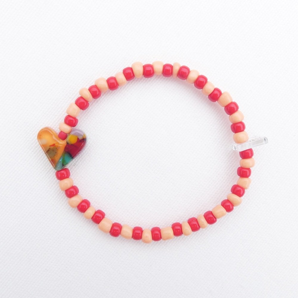 Red and peach Bracelet