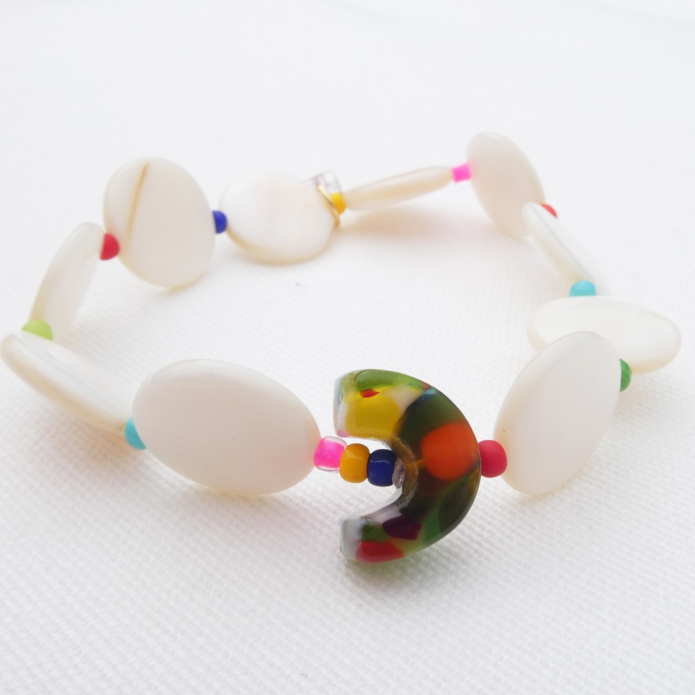 Rainbow and Shell Bracelet