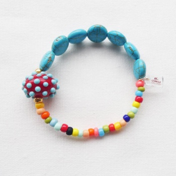Multicoloured Howlite Bracelet