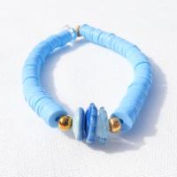 Blue Heishi Bracelet