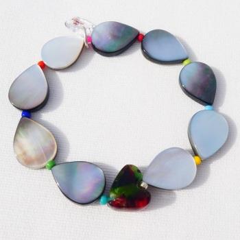 Iridescent Drop bracelet
