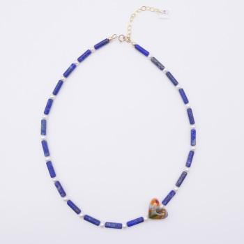 Lapiz Lazuli and Freshwater Pearl Necklace.