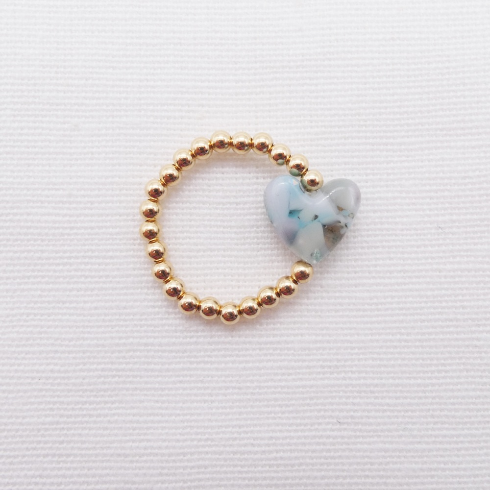 Simply Gold Ring - Pastel  heart