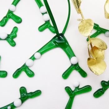Glass Mistletoe Decoration