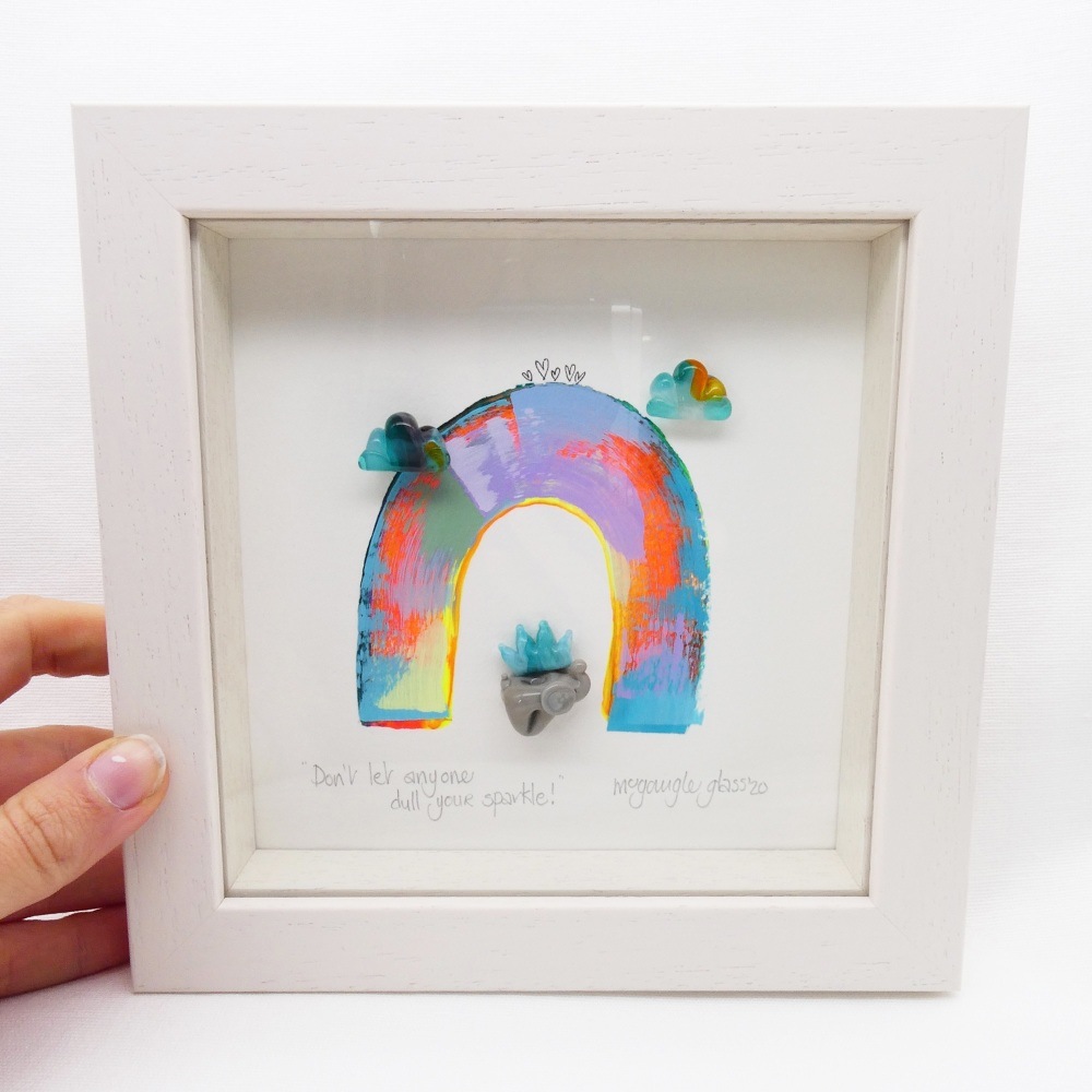 Don't let anyone dull your sparkle-tiny framed picture