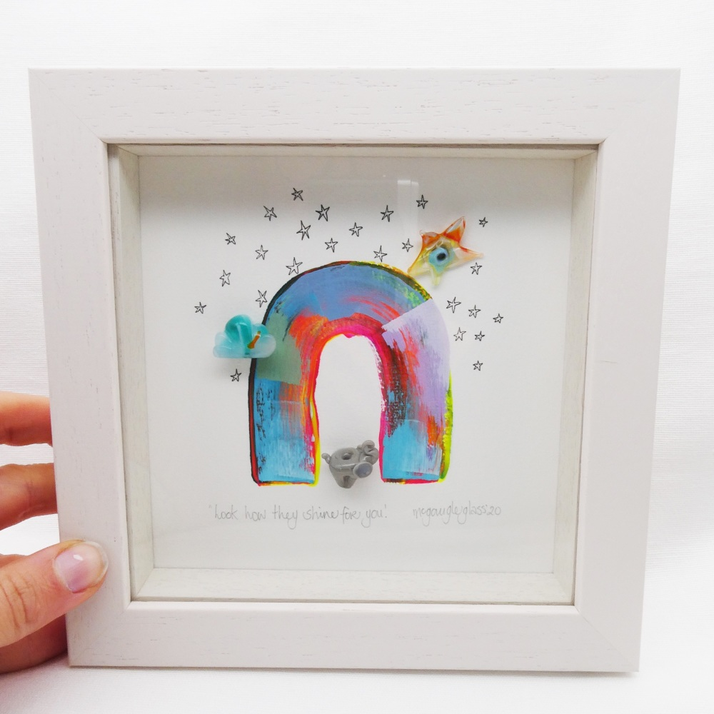 look how they shine for you -tiny framed picture