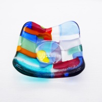 Multicoloured Tiny Fused glass Dish #1