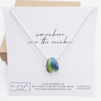 Glass Rainbow Necklace #3