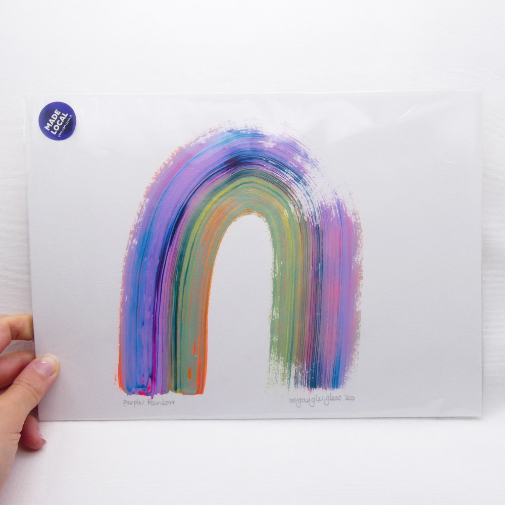Purple Rainbow -A4 Unframed painting