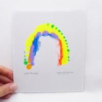Yellow Rainbow -Small Unframed painting