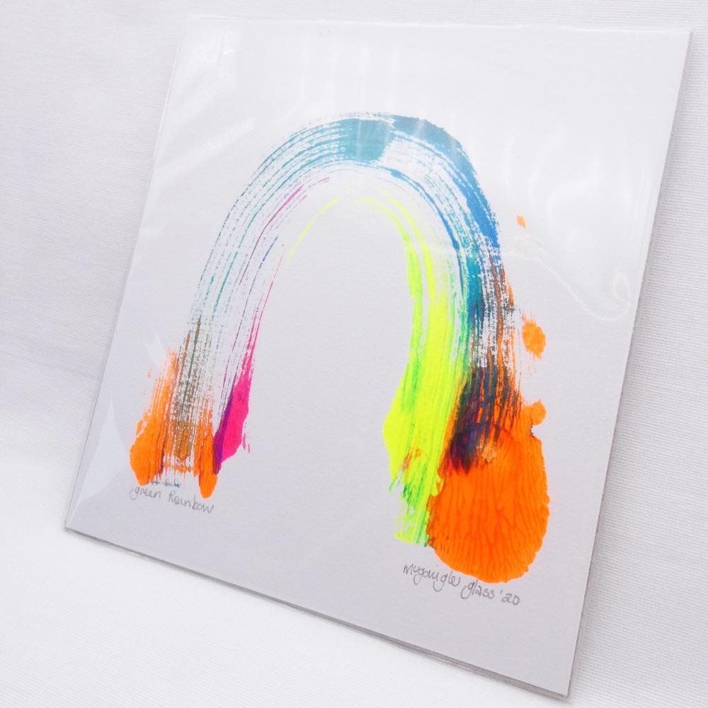 Green Rainbow -Small Unframed painting