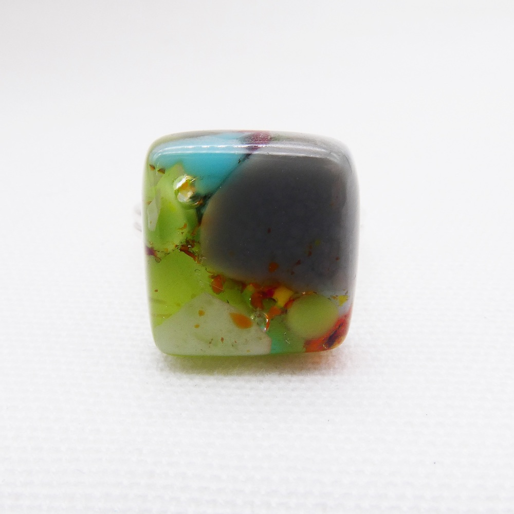 Fused Glass Ring #2