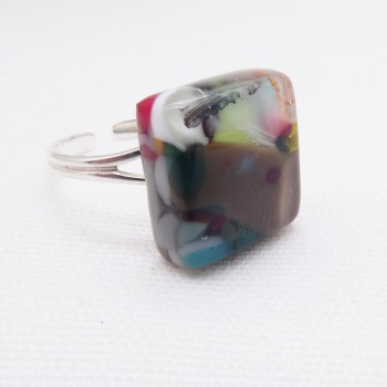 Fused Glass Ring #4