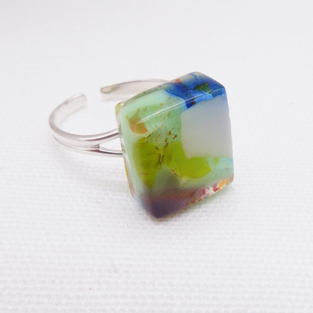 Fused Glass Ring #6