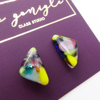 Multicoloured  geo studs #3