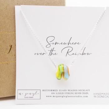 Glass Rainbow Necklace #1