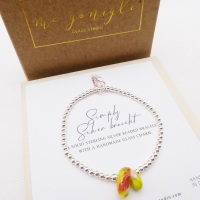 Simply Silver Bracelet with a Glass Rainbow #1